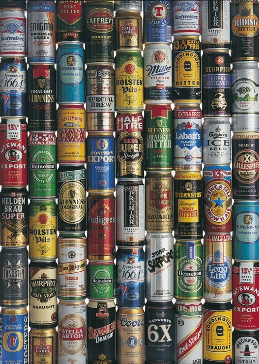 Beers of the world Affiche