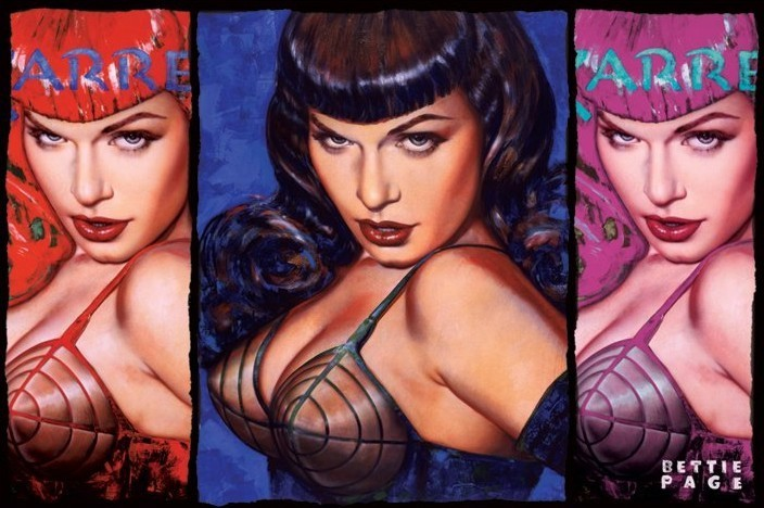 Bettie Page - colours Affiche