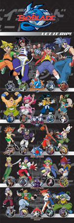 BEYBLADE - all characters Affiche