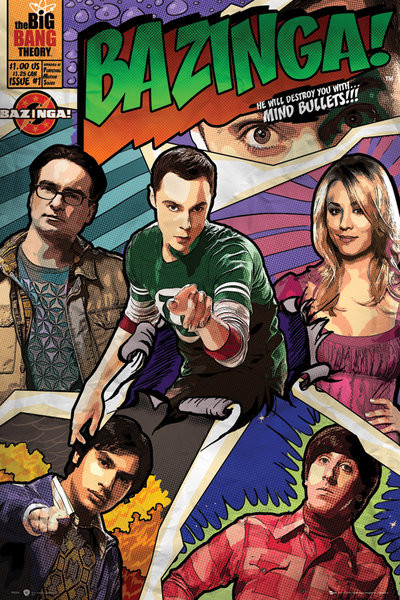 BIG BANG THEORY - comic Affiche