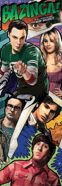 BIG BANG THEORY – comic Affiche