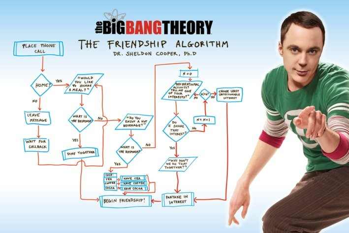 BIG BANG THEORY - friendship Affiche