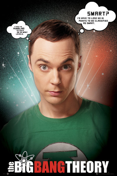 BIG BANG THEORY - sheldon quotes Affiche