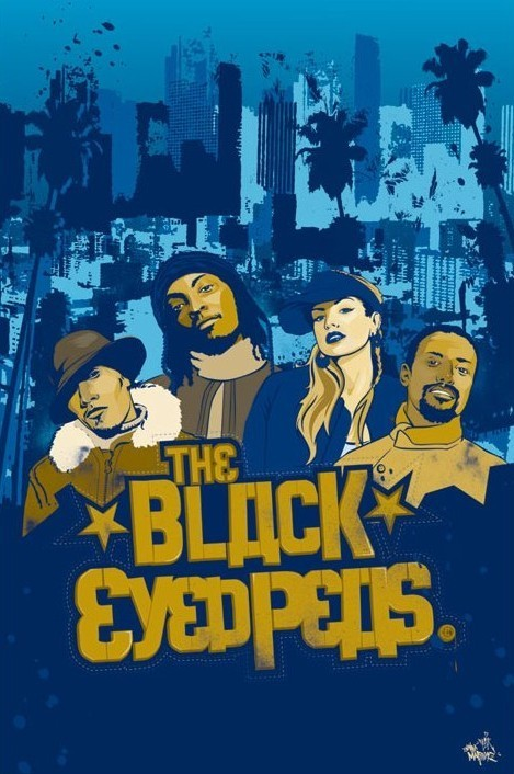 Black Eyed Peas - illlustration Affiche
