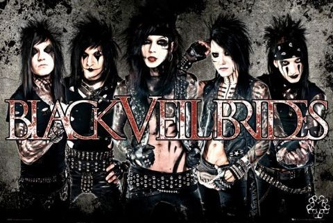 Black veil brides - leather Affiche