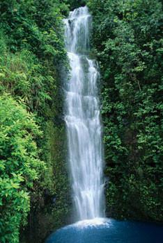 Blue lagoon – waterfall Affiche