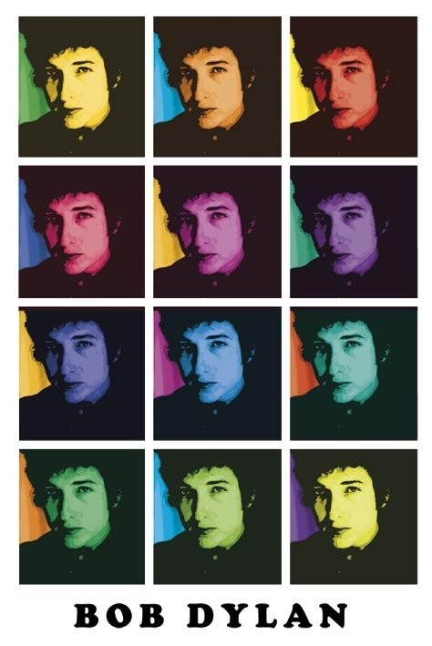 Bob Dylan – colours Poster