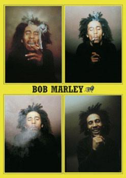 Bob Marley - 4 b&w.ikony Affiche