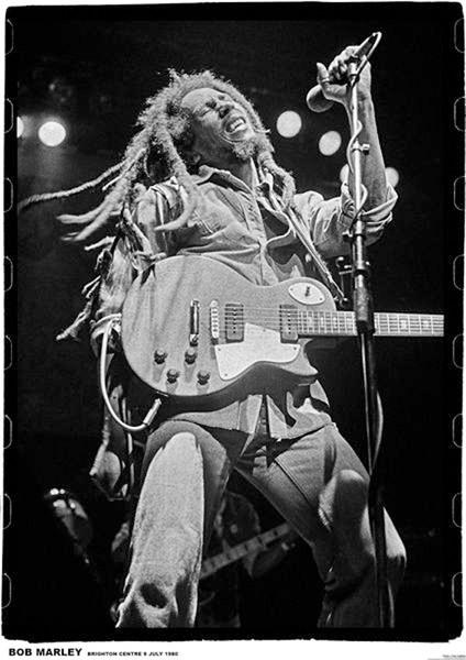Bob Marley - brighton leisure Affiche