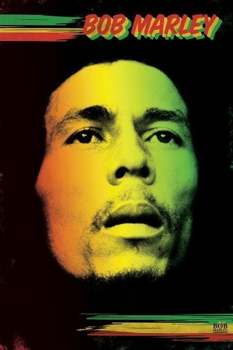 Bob Marley - face Affiche