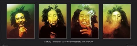 Bob Marley - faces Affiche