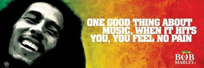 Bob Marley - music Affiche