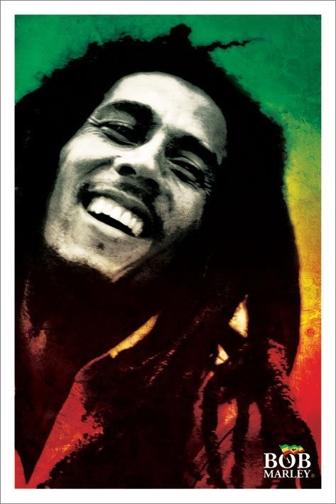 Bob Marley - paint Affiche