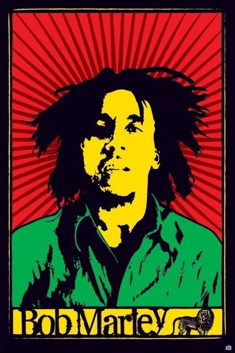 Bob Marley - rastafari Affiche
