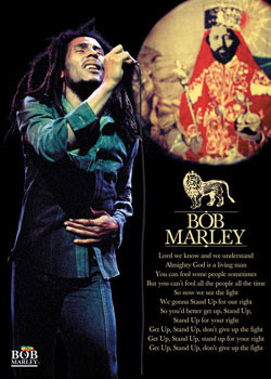 Bob Marley - selassie Affiche