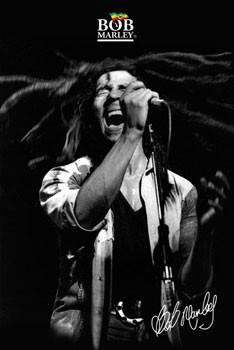 Bob Marley - shout b&w Affiche