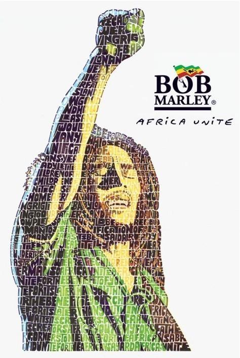 Bob Marley - unite Affiche