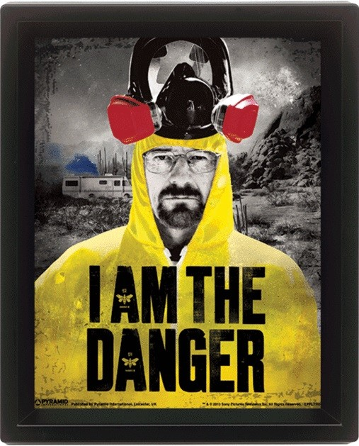 Breaking Bad - I am the danger Poster en 3D encadré