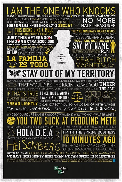 BREAKING BAD - typographic Affiche
