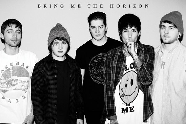 Bring Me the Horizon (B&W) Affiche