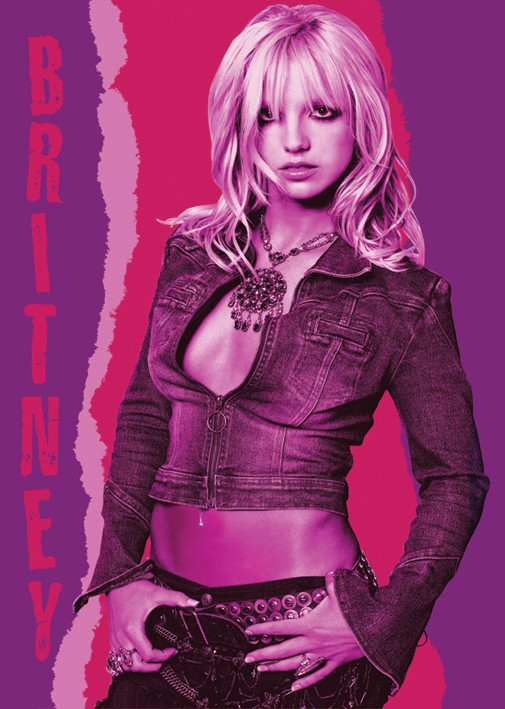 Britney Spears Red pose Affiche