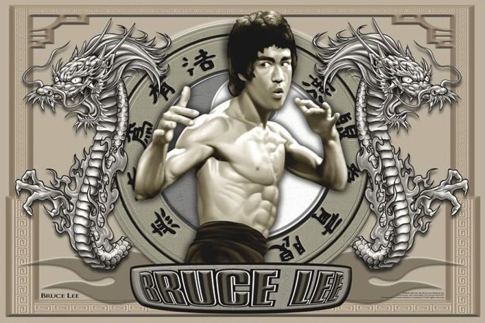 Bruce Lee - circles Affiche