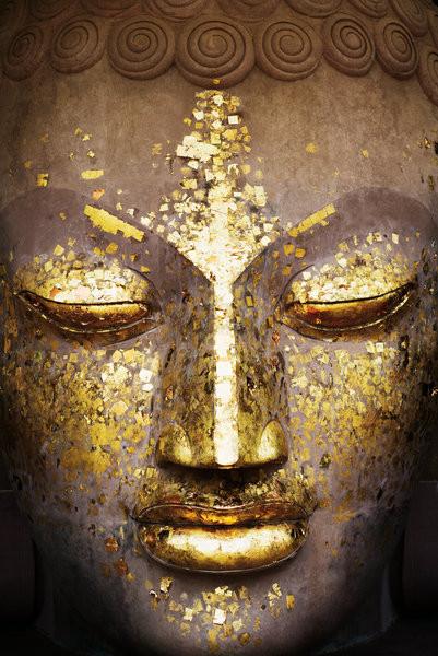 Buddha - face Affiche