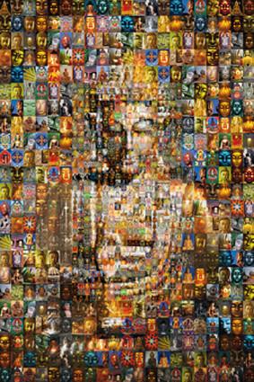 Buddha mosaic Affiche