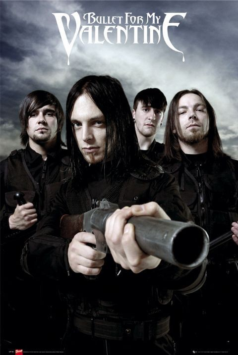 Bullet for my valentine - guns Affiche