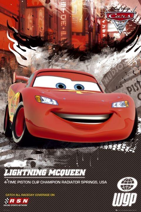 CARS 2 - lightning Affiche