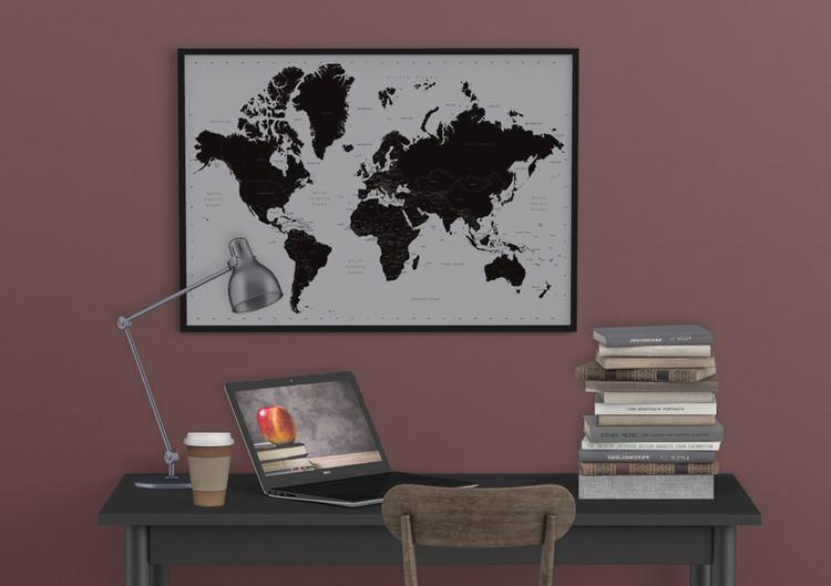 Carte du monde contemporain Affiche