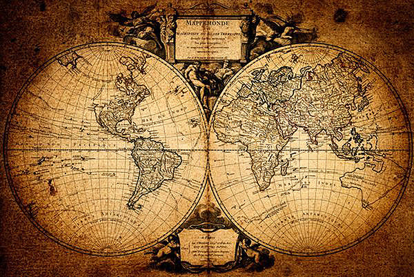 Carte du monde - Mappemonde Affiche