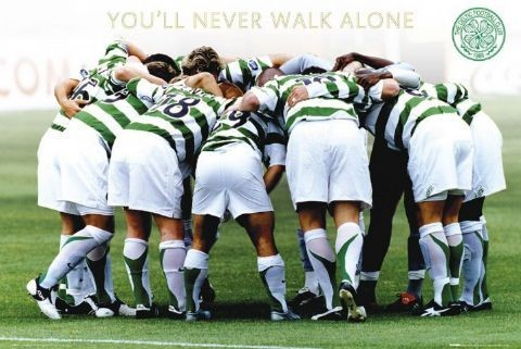 Celtic - huddle Affiche