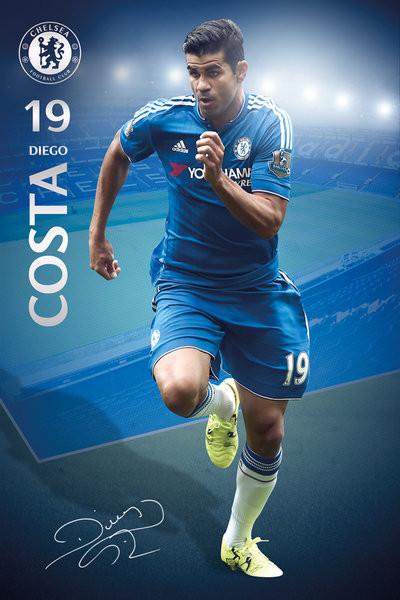 Chelsea FC - Costa 15/16 Affiche