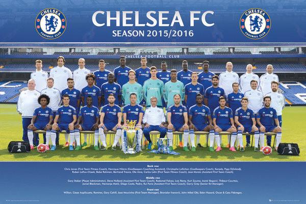 Chelsea FC - Team Photo 15/16 Affiche