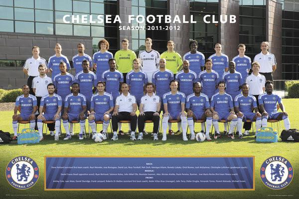 Chelsea - Team photo 11/12 Affiche