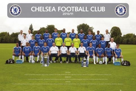 Chelsea - Team photo 2010/2011 Affiche
