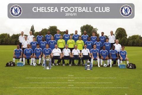Chelsea - Team photo 2010/2011 Affiche