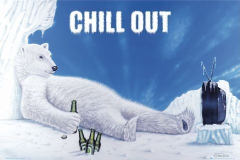Chill out - polar bear Affiche