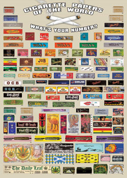 Cigarette papers of the world Affiche