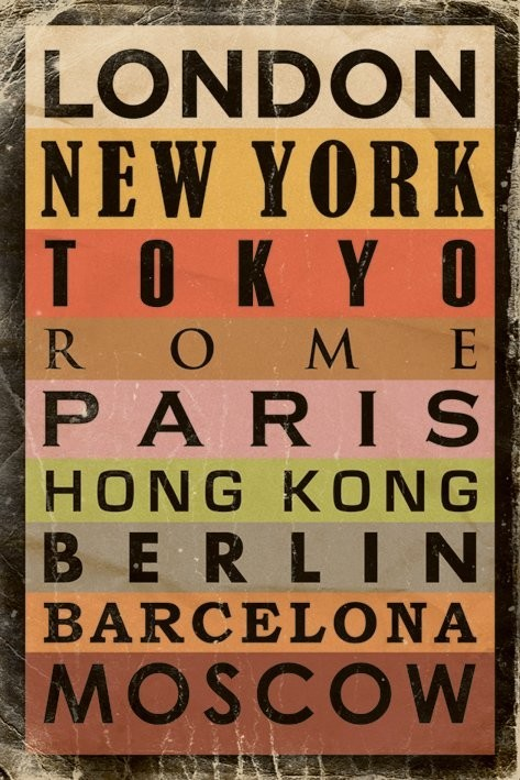 Cities Affiche