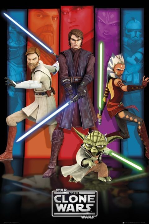 CLONE WARS - colours Affiche