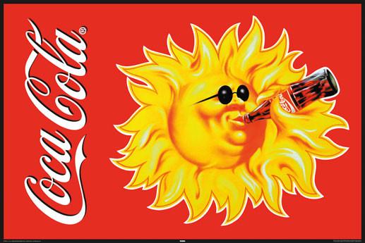Coca Cola - sun Affiche