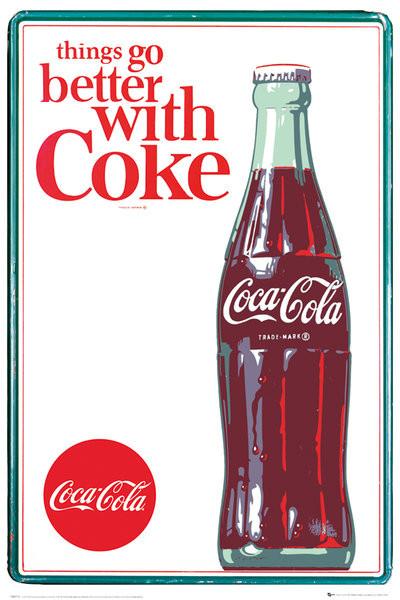coca cola things go better poster affiche acheter le sur. Black Bedroom Furniture Sets. Home Design Ideas