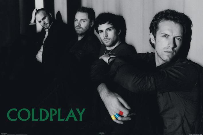 COLDPLAY - group Affiche