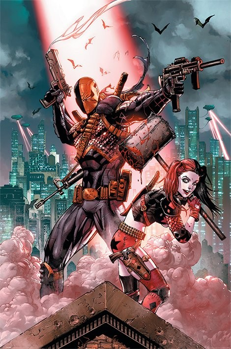 Dc Comics - Deathstroke & Harley Quinn Affiche