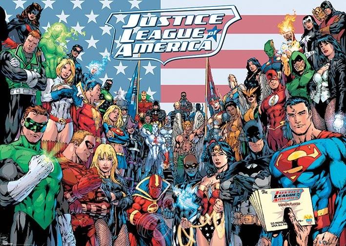 DC COMICS - jla classic group Poster