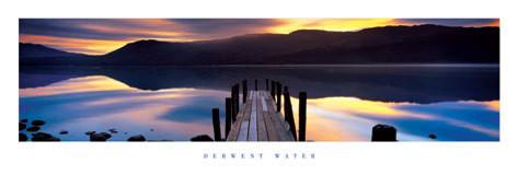 Derwent water - molo Affiche