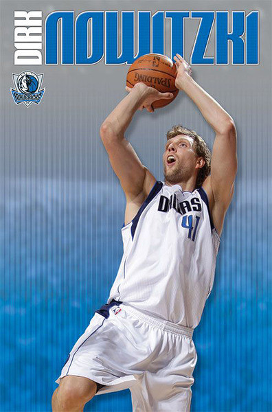 Dirk Nowitzki - dallas mavericks Affiche