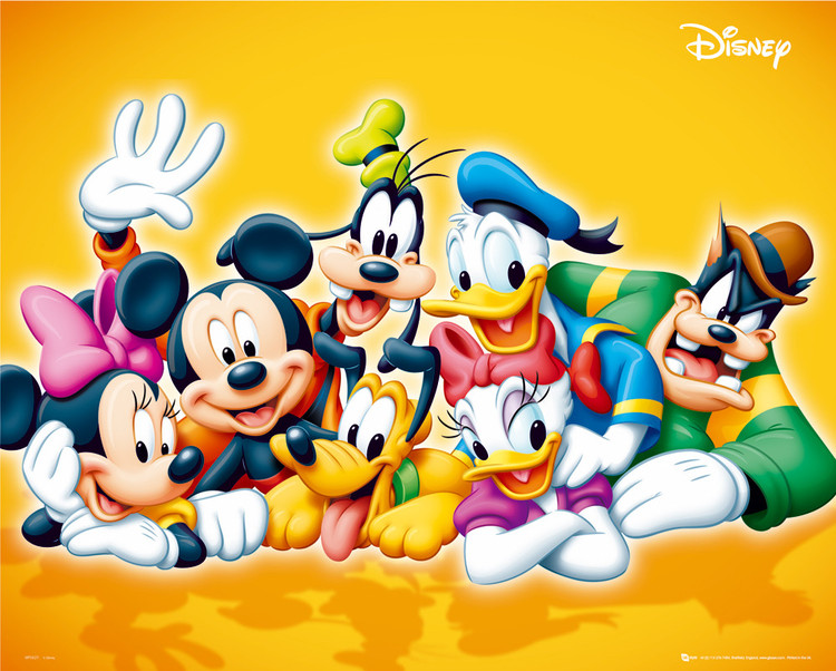 DISNEY - characters Affiche